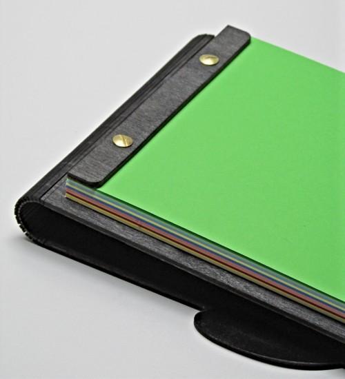 Yılbaşı Temalı Ahşap Kapaklı Değiştirilebilir Kağıtlı A5 Defter