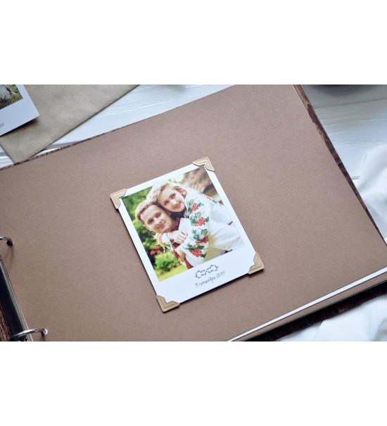 Kişiye Özel İsimli ve Tarihli Güllerden Yapılmış Kalp Figürlü Ahşap Kendin Yap Fotoğraf Albümü / Düğün Albümü - 72 Sayfa
