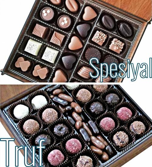 Sarmal Desenli Ahşap Kutulu Hediyelik Çikolata