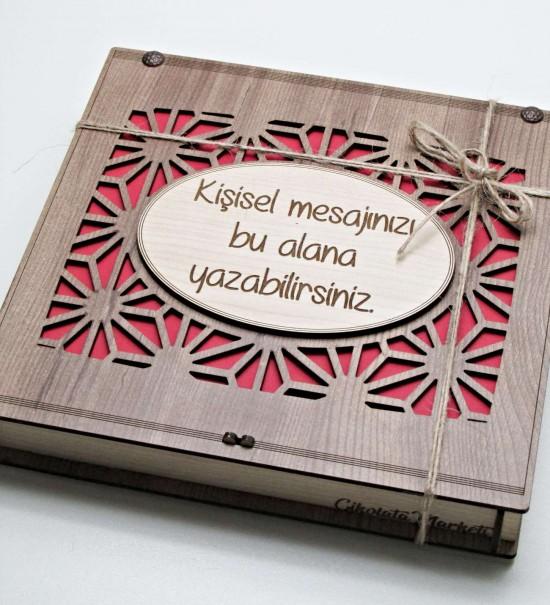 Kişisel Mesajınızı Yazabileceğiniz Ahşap Kutulu Hediyelik Çikolata