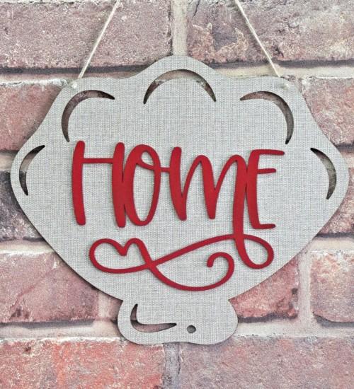 Home Yazılı Deniz Kabuğu Figürlü Kapı / Duvar Süsü